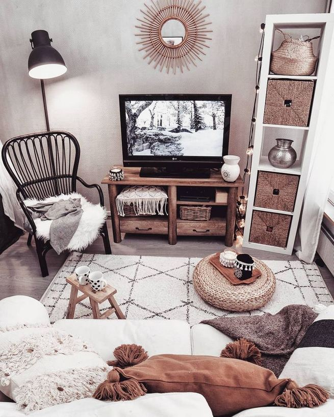 14 Cozy Bohemian Living Room Decoration Ideas 07