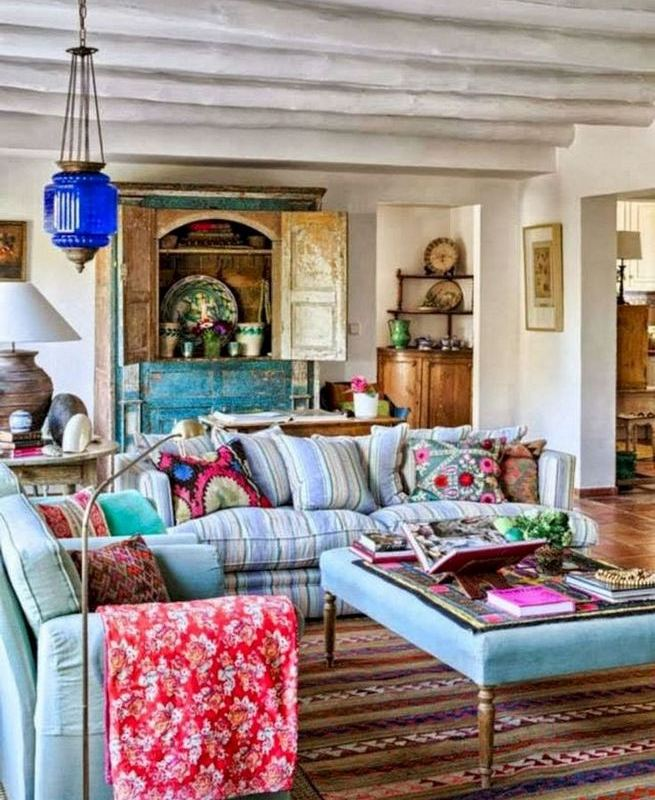 14 Cozy Bohemian Living Room Decoration Ideas 17