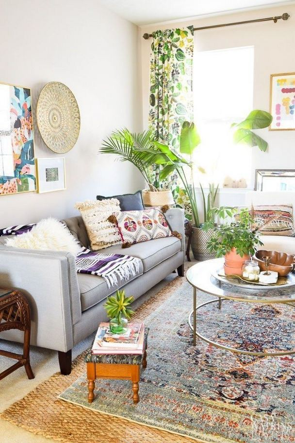 14 Cozy Bohemian Living Room Decoration Ideas 20