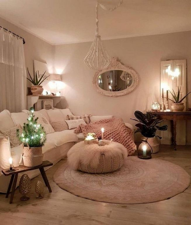 14 Cozy Bohemian Living Room Decoration Ideas 34