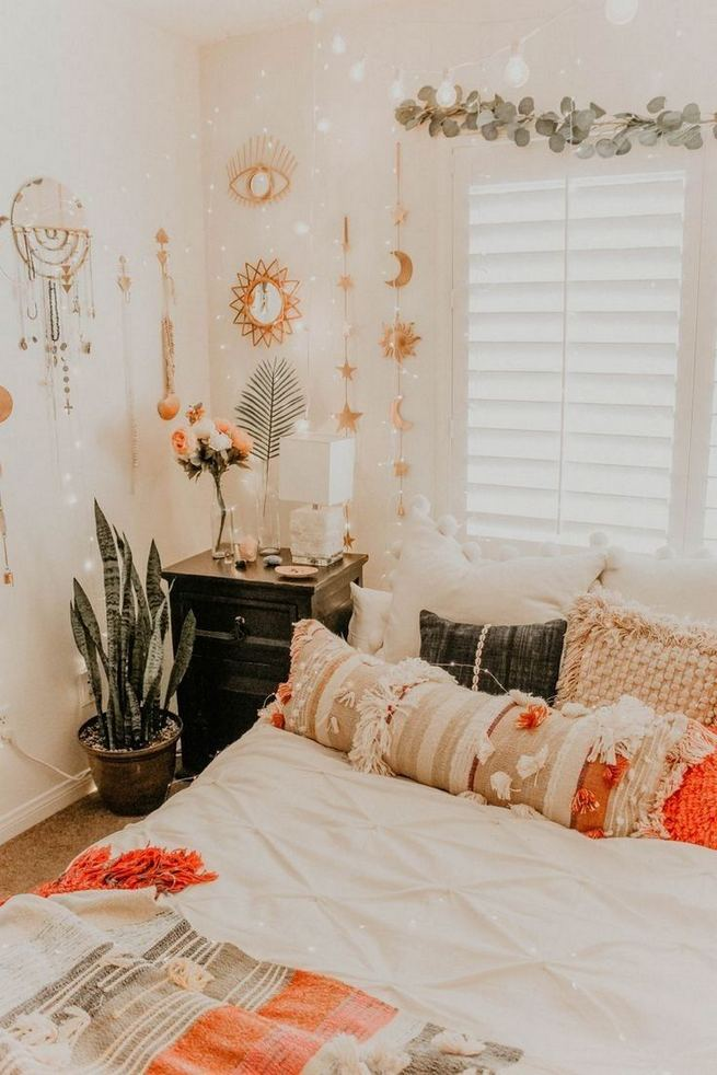 14 Elegant Boho Bedroom Decor Ideas For Small Apartment 02