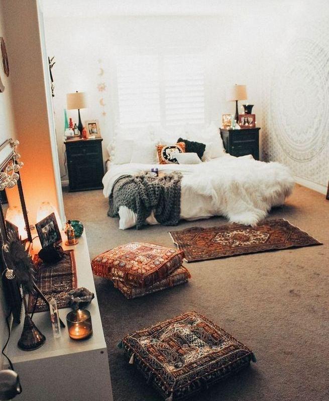 14 Elegant Boho Bedroom Decor Ideas For Small Apartment 17