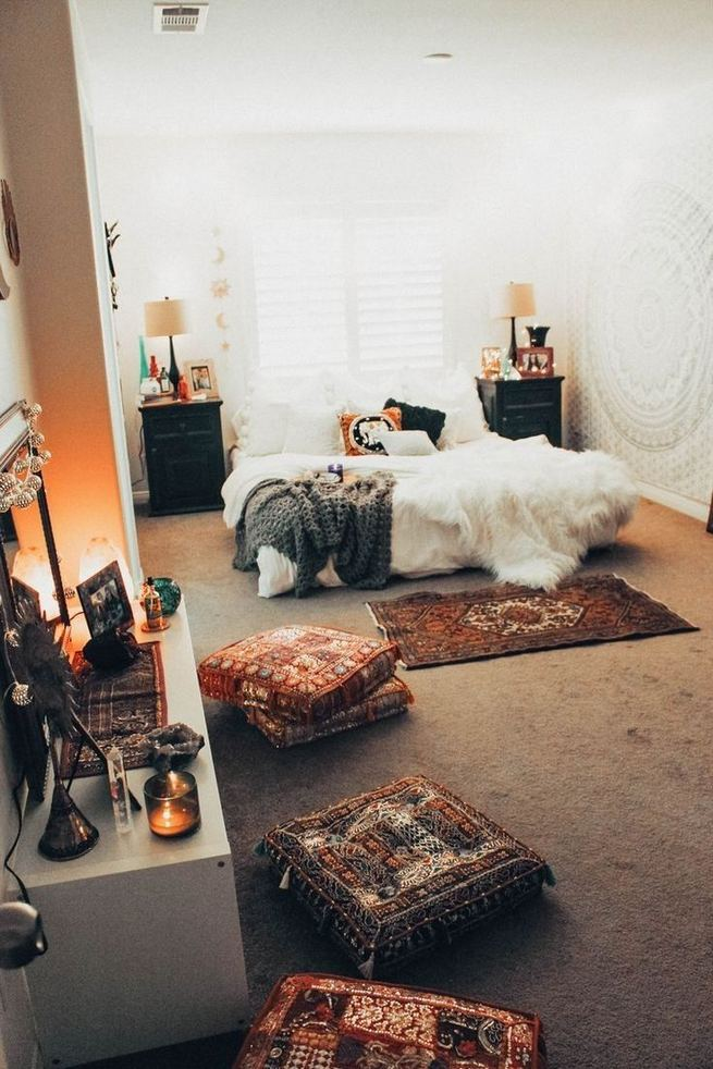 14 Elegant Boho Bedroom Decor Ideas For Small Apartment 17