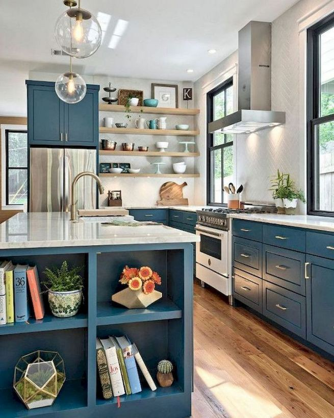 15 Incredible Farmhouse Gray Kitchen Cabinet Design Ideas 01