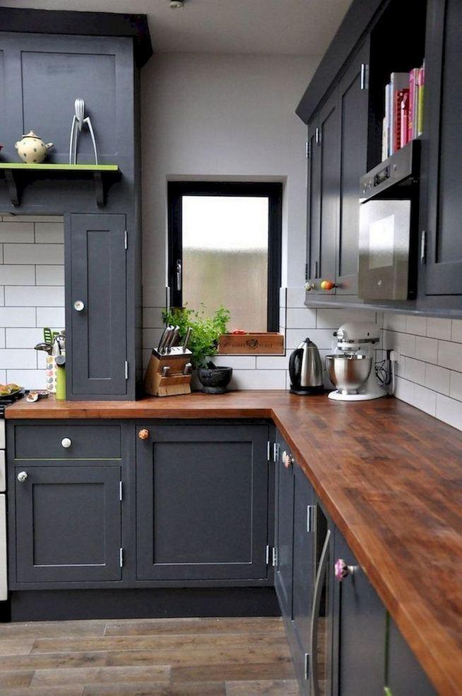 15 Incredible Farmhouse Gray Kitchen Cabinet Design Ideas 19