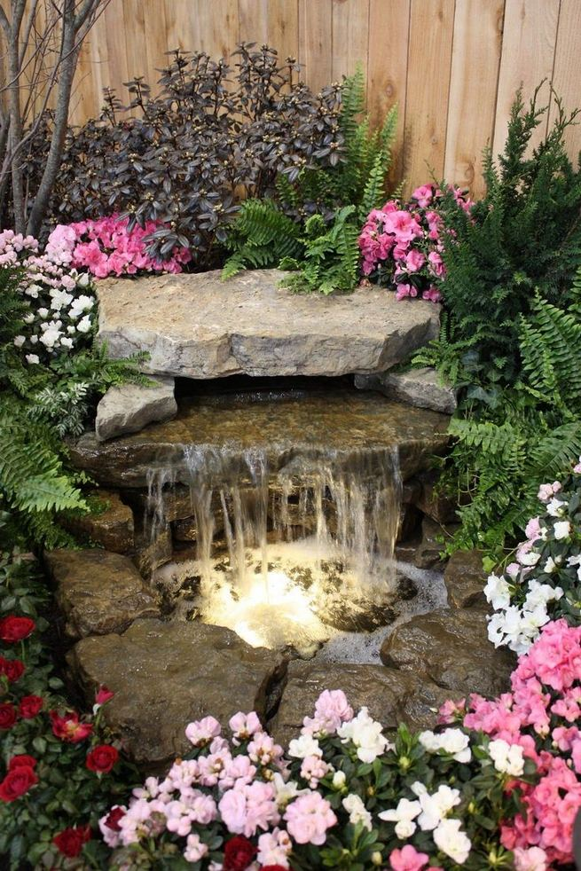 15 Relaxing Backyard Waterfalls Ideas For Your Outdoor 06