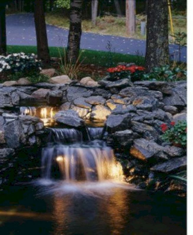 15 Relaxing Backyard Waterfalls Ideas For Your Outdoor 15