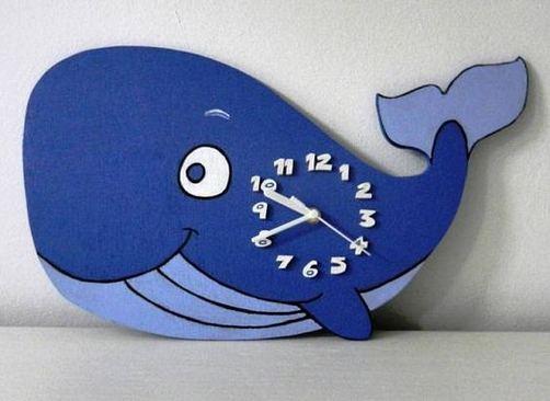 16 Cute Creative DIY Wall Clock Ideas For Kids Room 04