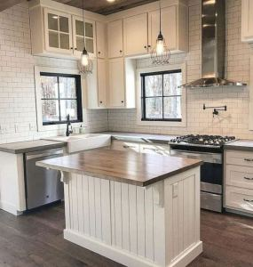 16 Modern Farmhouse Kitchen Cabinet Makeover Design Ideas 13