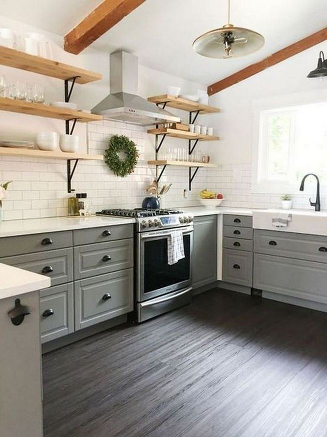 16 Modern Farmhouse Kitchen Cabinet Makeover Design Ideas 14