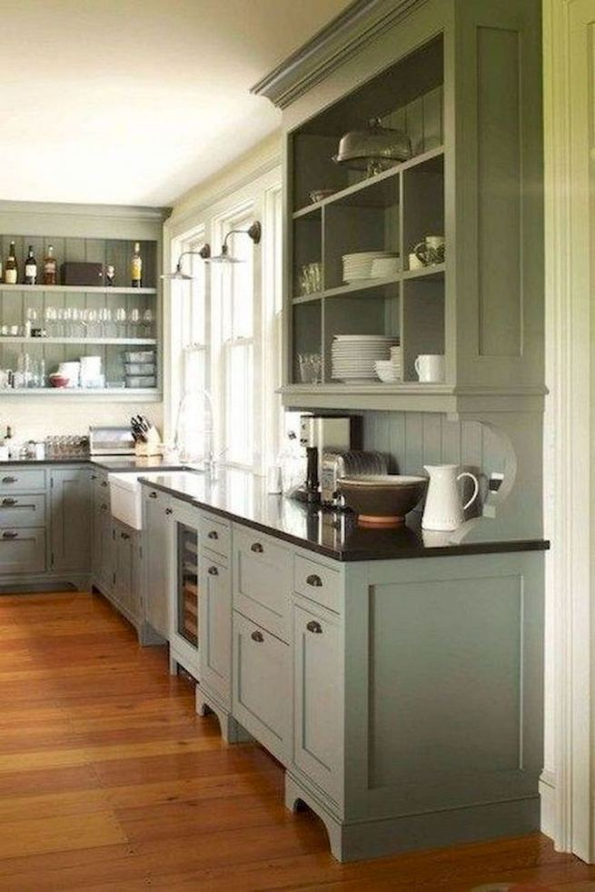 16 Modern Farmhouse Kitchen Cabinet Makeover Design Ideas 25