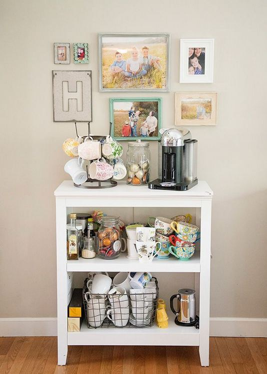17 Easy DIY Mini Coffee Bar Ideas For Your Home 14