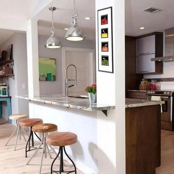 17 Elegant First Apartment Small Kitchen Bar Design Ideas 24
