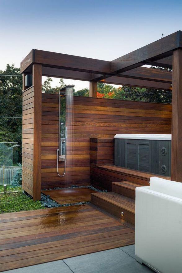 19 Inspiring Outdoor Shower Design Ideas 08
