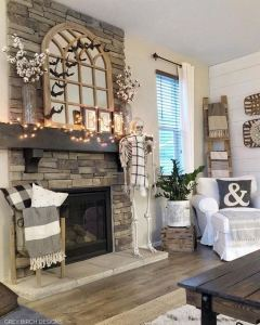 21 Warm And Cozy Farmhouse Style Living Room Decor Ideas 05