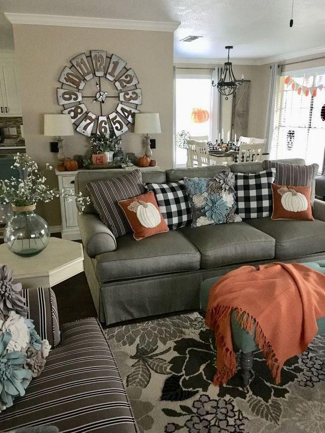21 Warm And Cozy Farmhouse Style Living Room Decor Ideas ...