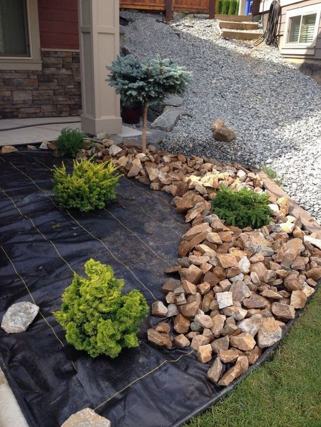 12 Best Ideas For Front Yard Rock Garden 02