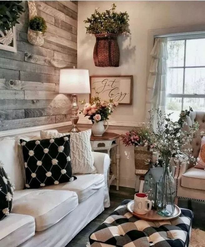 13 Cozy Farmhouse Living Room Decor Ideas 08