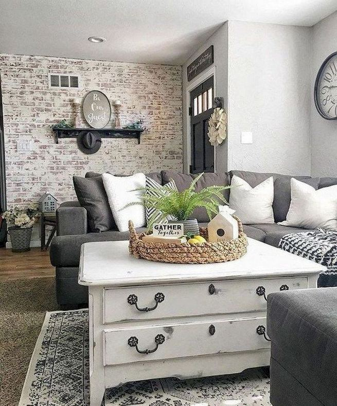 13 Cozy Farmhouse Living Room Decor Ideas 13