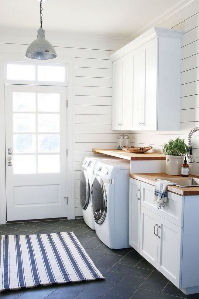 16 Brilliant Small Functional Laundry Room Decoration Ideas 08