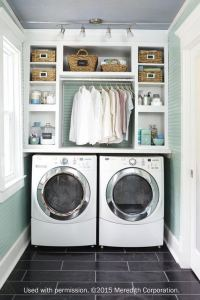 16 Brilliant Small Functional Laundry Room Decoration Ideas 23