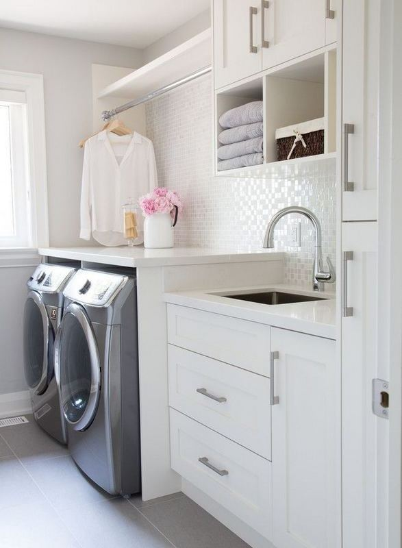 16 Brilliant Small Functional Laundry Room Decoration Ideas 30