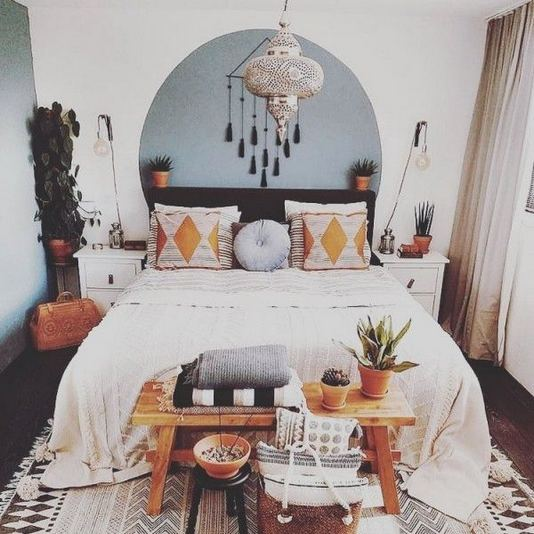 19 Creative DIY Bohemian Bedroom Decor Ideas 15