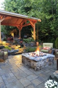 15 Awesome Winter Patio Decorating Ideas With Fire Pit – Making Your Patio Warm And Cozy 09