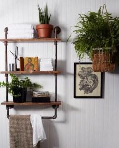 15 Models Bathroom Shelf With Industrial Farmhouse Towel Bar 11