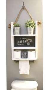 15 Models Bathroom Shelf With Industrial Farmhouse Towel Bar 13