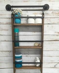 15 Models Bathroom Shelf With Industrial Farmhouse Towel Bar 22