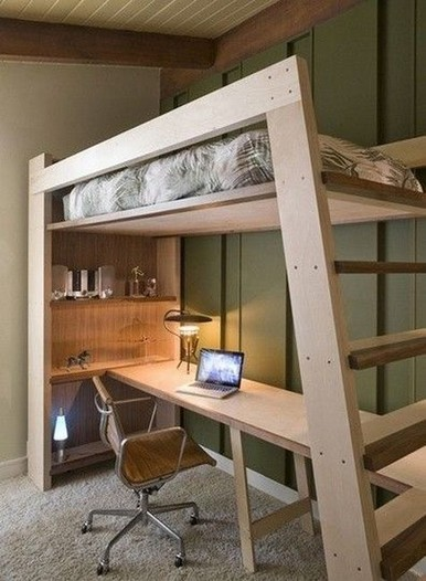 16 Bunk Beds Design Ideas With Desk Areas Help To Make Compact Bedrooms Bigger 08