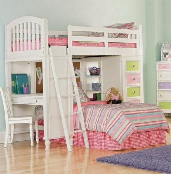16 Bunk Beds Design Ideas With Desk Areas Help To Make Compact Bedrooms Bigger 09
