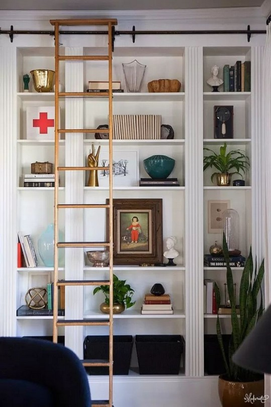 16 Fantastic Floor To Ceiling Bookshelves With Ladder 18