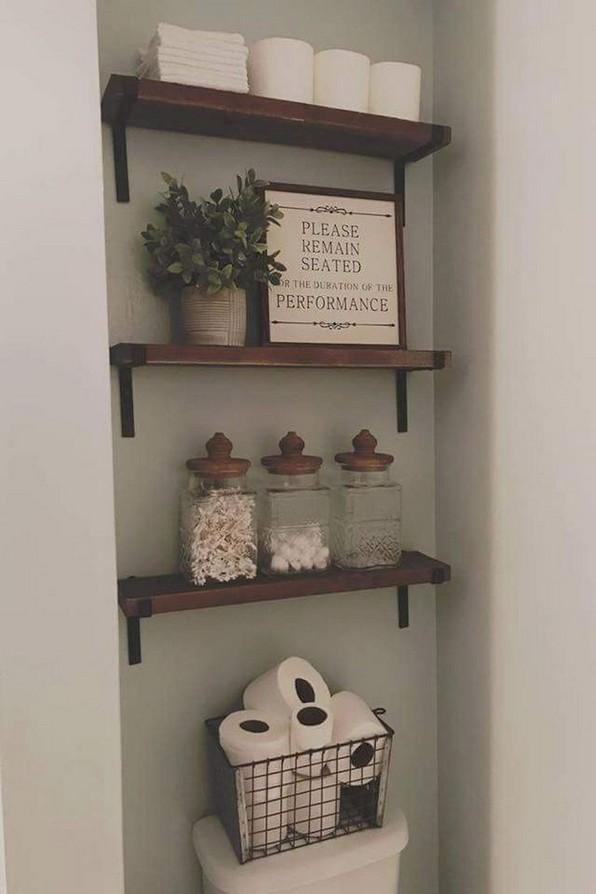 16 Kinds Of Farmhouse Bathroom Accessories Ideas 10