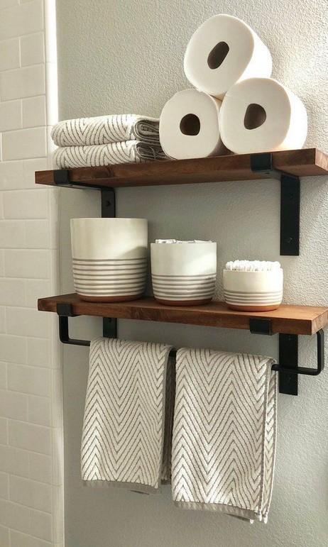16 Kinds Of Farmhouse Bathroom Accessories Ideas 13