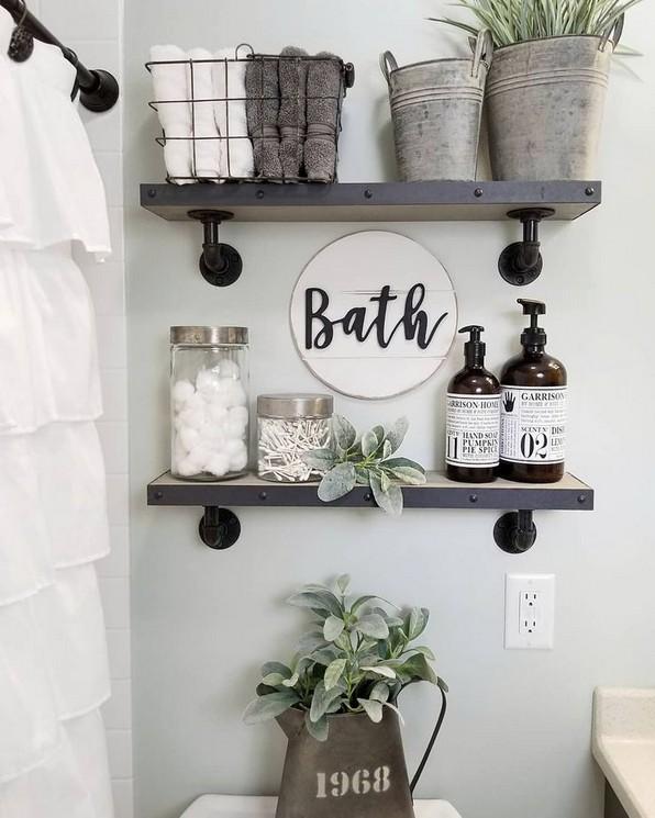 16 Kinds Of Farmhouse Bathroom Accessories Ideas 21