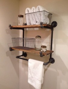 16 Models Bathroom Shelf With Industrial Farmhouse Towel Bar – Tips For Buying It 08