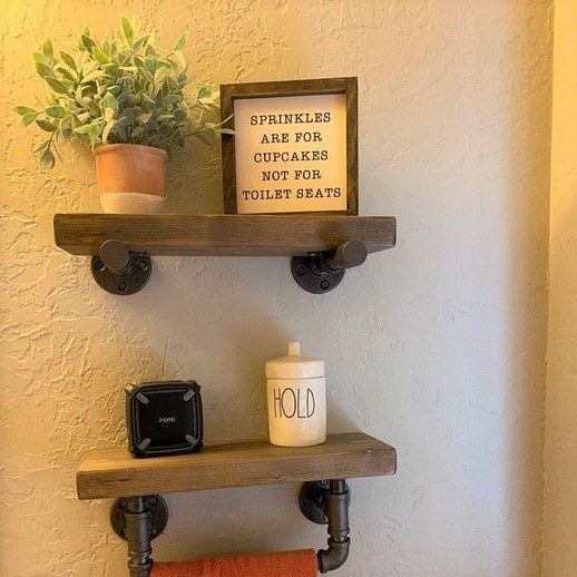 16 Models Bathroom Shelf With Industrial Farmhouse Towel Bar – Tips For Buying It 14