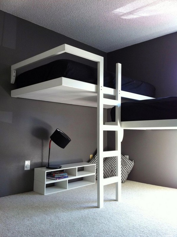 17 Most Popular Floating Bunk Beds Design 03