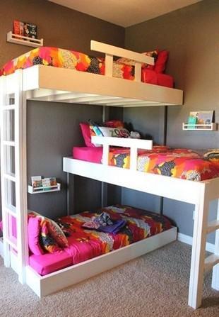 17 Most Popular Floating Bunk Beds Design 05