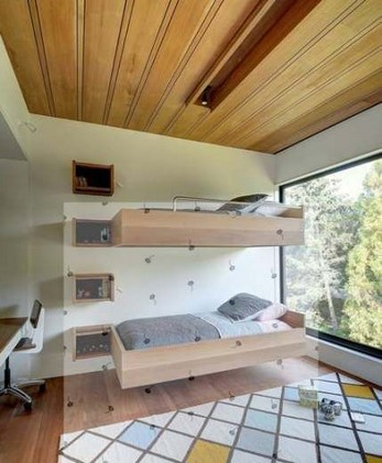 17 Most Popular Floating Bunk Beds Design 07