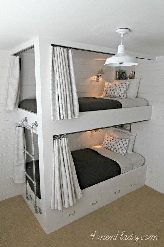 18 BBunk Bed Design Ideas With The Most Enthusiastic Desk In Interest 19