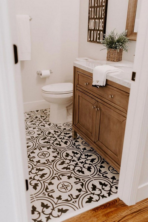 18 Comfy Bathroom Floor Design Ideas 18