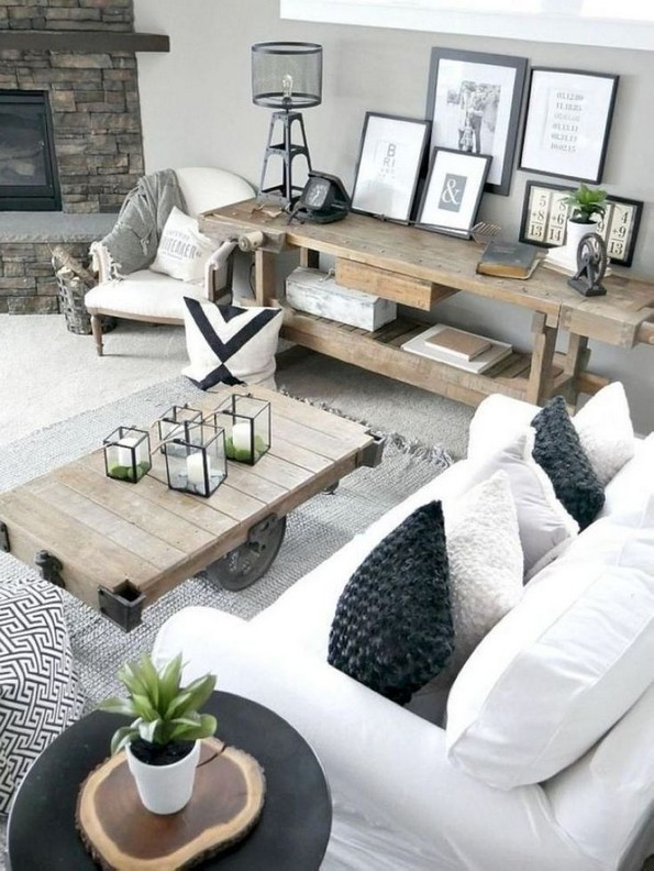 18 Modern Rustic Living Room Furniture 11