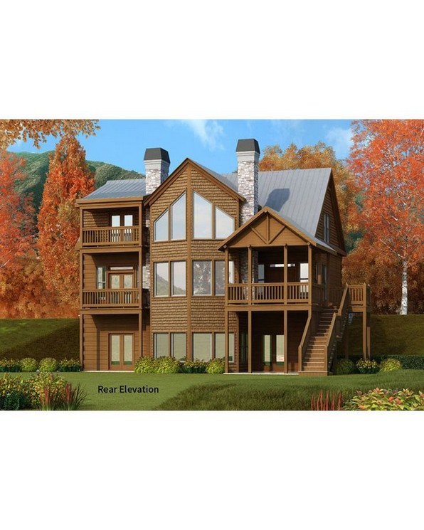 17 Beautiful Mountain Cabin Plans Hillside 14