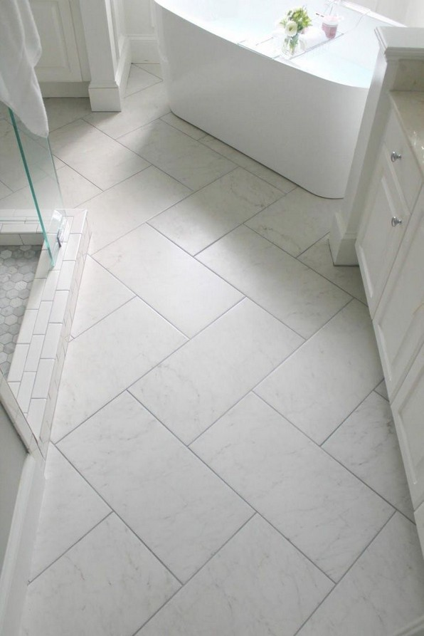 19 Beautiful Bathroom Tile Ideas For Bathroom Floor Tile 16