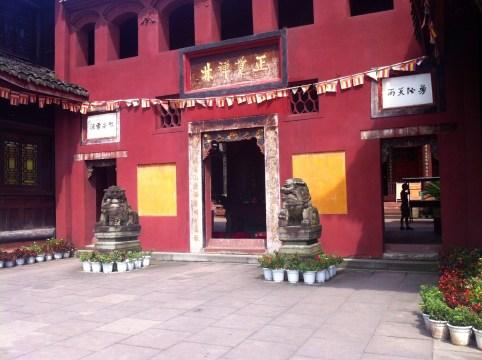 Hill-top temple near the buddha.