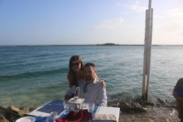 Husband and me at The Flying Fishbone, a lovely little restaurant where we got to eat with our toes literally in the water.