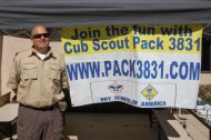 Representatives from the Boy Scouts were on hand to answer questions.